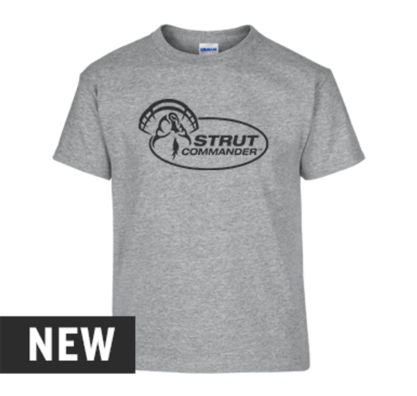 Strut Commander Youth Heather Gray T-Shirt