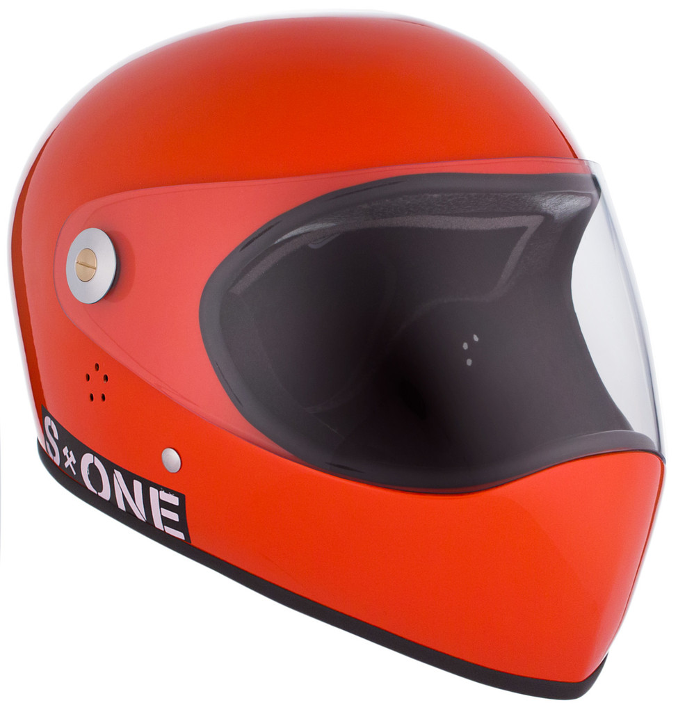 Lava Orange Gloss W/ Clear Visor | S1 Lifer Full Face Helmet Specs: • Specially formulated EPS Fusion Foam • Certified Multi-Impact (ASTM) • Certified High Impact (CPSC) • 5x More Protective Than Regular Skate Helmets • Deep Fit Design
