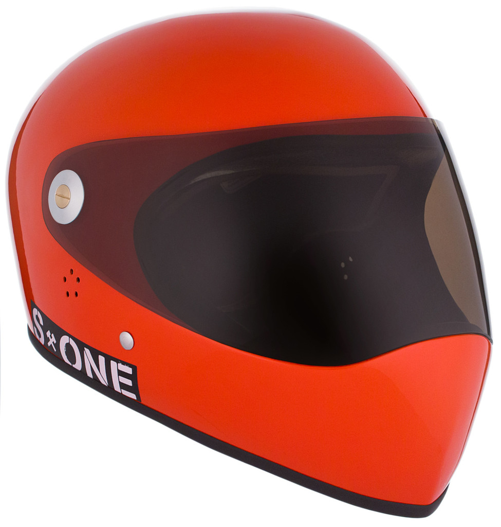 Lava Orange Gloss W/ Tint Visor | S1 Lifer Full Face Helmet Specs: • Specially formulated EPS Fusion Foam • Certified Multi-Impact (ASTM) • Certified High Impact (CPSC) • 5x More Protective Than Regular Skate Helmets • Deep Fit Design