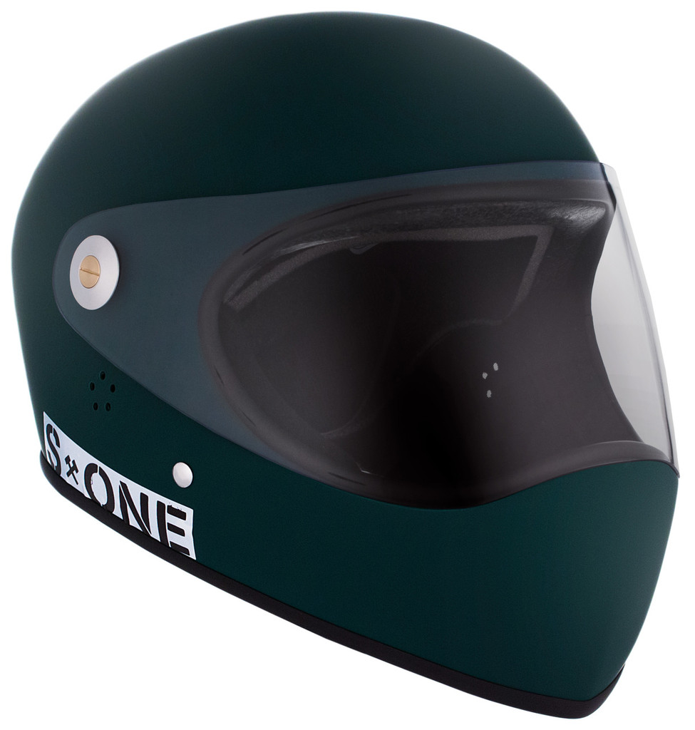 Dark Green Matte W/ Clear Visor | S1 Lifer Full Face Helmet Specs: • Specially formulated EPS Fusion Foam • Certified Multi-Impact (ASTM) • Certified High Impact (CPSC) • 5x More Protective Than Regular Skate Helmets • Deep Fit Design