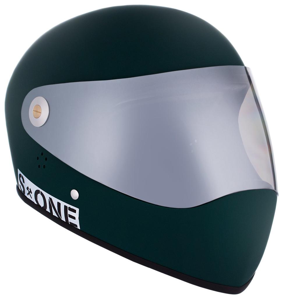 Dark Green Matte W/ Mirror Visor | S1 Lifer Full Face Helmet Specs: • Specially formulated EPS Fusion Foam • Certified Multi-Impact (ASTM) • Certified High Impact (CPSC) • 5x More Protective Than Regular Skate Helmets • Deep Fit Design