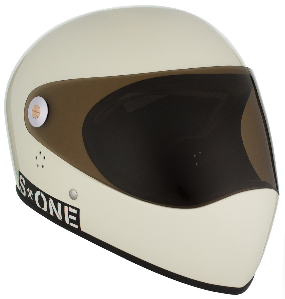 Moto White Gloss W/ Tint Visor   S1 Lifer Full Face Helmet Specs: • Specially formulated EPS Fusion Foam • Certified Multi-Impact (ASTM) • Certified High Impact (CPSC) • 5x More Protective Than Regular Skate Helmets • Deep Fit Design