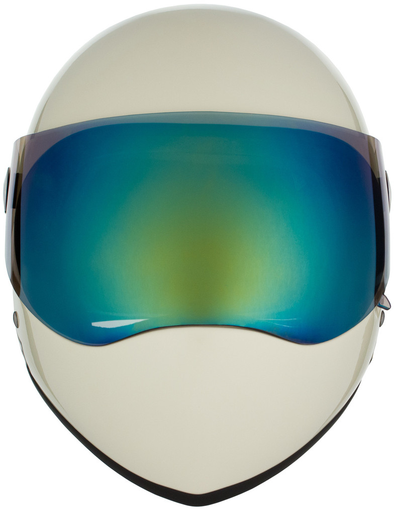 Moto White Gloss W/ Mirror Visor   S1 Lifer Full Face Helmet Specs: • Specially formulated EPS Fusion Foam • Certified Multi-Impact (ASTM) • Certified High Impact (CPSC) • 5x More Protective Than Regular Skate Helmets • Deep Fit Design