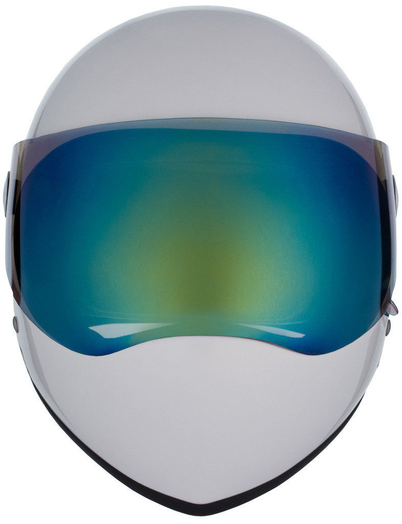 White Gloss W/ Mirror Visor | S1 Lifer Full Face Helmet Specs: • Specially formulated EPS Fusion Foam • Certified Multi-Impact (ASTM) • Certified High Impact (CPSC) • 5x More Protective Than Regular Skate Helmets • Deep Fit Design