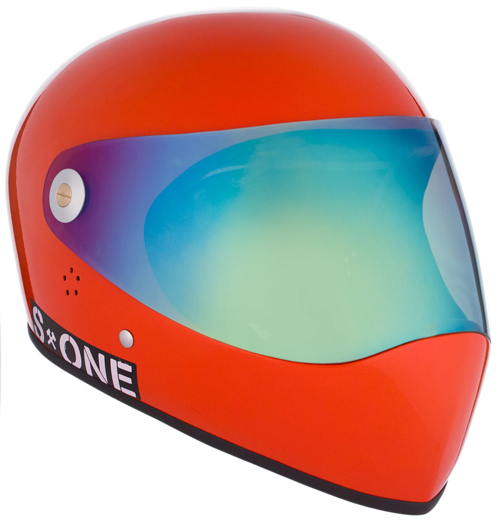 Lifer Full Face Lava Orange Gloss Visor 311 Clear W Iridium S1 Helmet Specs