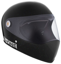Black Gloss Glitter W/ Clear Visor   S1 Lifer Full Face Helmet Specs: • Specially formulated EPS Fusion Foam • Certified Multi-Impact (ASTM) • Certified High Impact (CPSC) • 5x More Protective Than Regular Skate Helmets • Deep Fit Design