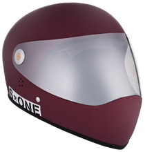 Maroon Matte W/ Mirror Visor | S1 Lifer Full Face Helmet Specs: • Specially formulated EPS Fusion Foam • Certified Multi-Impact (ASTM) • Certified High Impact (CPSC) • 5x More Protective Than Regular Skate Helmets • Deep Fit Design