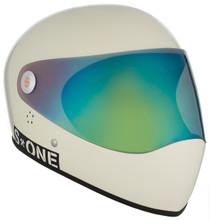 Moto White Gloss W/ Iridium Visor   S1 Lifer Full Face Helmet Specs: • Specially formulated EPS Fusion Foam • Certified Multi-Impact (ASTM) • Certified High Impact (CPSC) • 5x More Protective Than Regular Skate Helmets • Deep Fit Design
