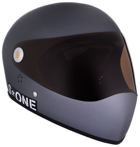Grey Matte W/ Tint Visor | S1 Lifer Full Face Helmet Specs: • Specially formulated EPS Fusion Foam • Certified Multi-Impact (ASTM) • Certified High Impact (CPSC) • 5x More Protective Than Regular Skate Helmets • Deep Fit Design