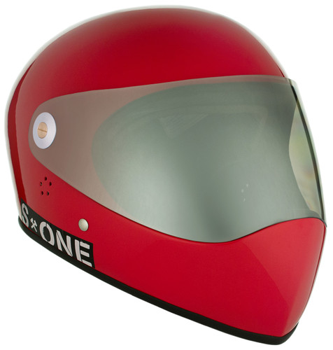 Red Gloss W/ Mirror Visor | S1 Lifer Full Face Helmet Specs: • Specially formulated EPS Fusion Foam • Certified Multi-Impact (ASTM) • Certified High Impact (CPSC) • 5x More Protective Than Regular Skate Helmets • Deep Fit Design