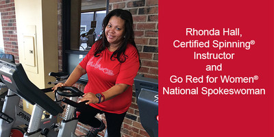 Rhonda Hall, Certified Spinning® Instructor and Go Red for Women® National Spokeswoman