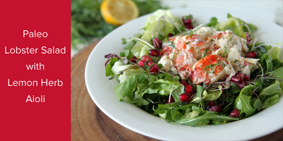 Paleo Lobster Salad with Lemon Herb Aioli | The Simple Taste Kitchen