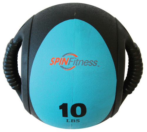 SPIN Fitness® Dual Grip Medicine Ball 10lb