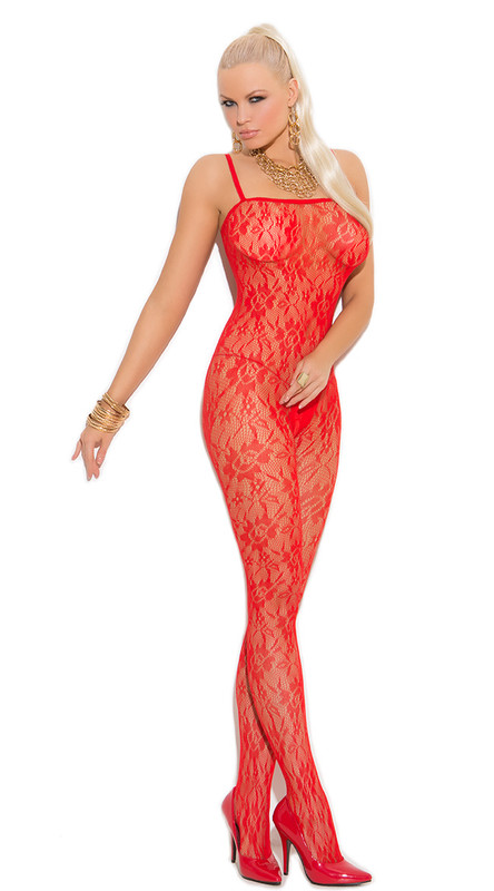Red Rose Lace Bodystocking