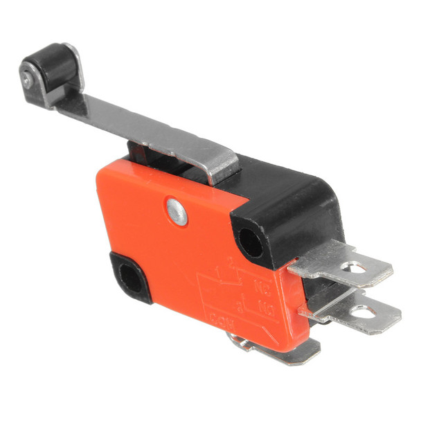 AC125~250V 15A 3Pins Micro Limit Silver Contact Switch SPDT Snap Action Long Roller Lever Arm Switch Best Quality