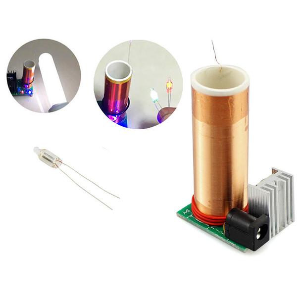 Mini DIY Tesla Coil Kit 15W Music Tesla Coil Plasma Speaker Tesla Wireless Transmission DC 15-24v