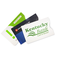 paper and tyvek card sleeves