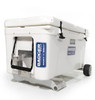 Tundra 65 Qt with Badger Wheels Axle - Small Wheels resting on Badger Handle