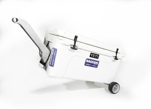Badger Handle on Tundra 65 Qt with Badger Wheels Axle - Standard Wheels