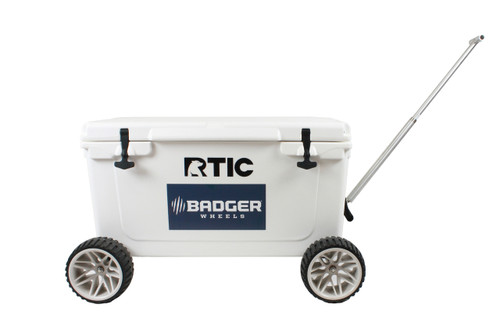 RTIC Large Wheel Original Badger Wheels™ Combo - Two Axles + Handle (Fits RTIC 45 & 65 )