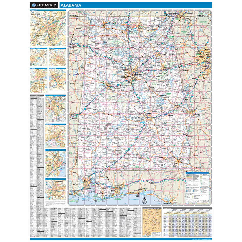 ProSeries Wall Map: Alabama State