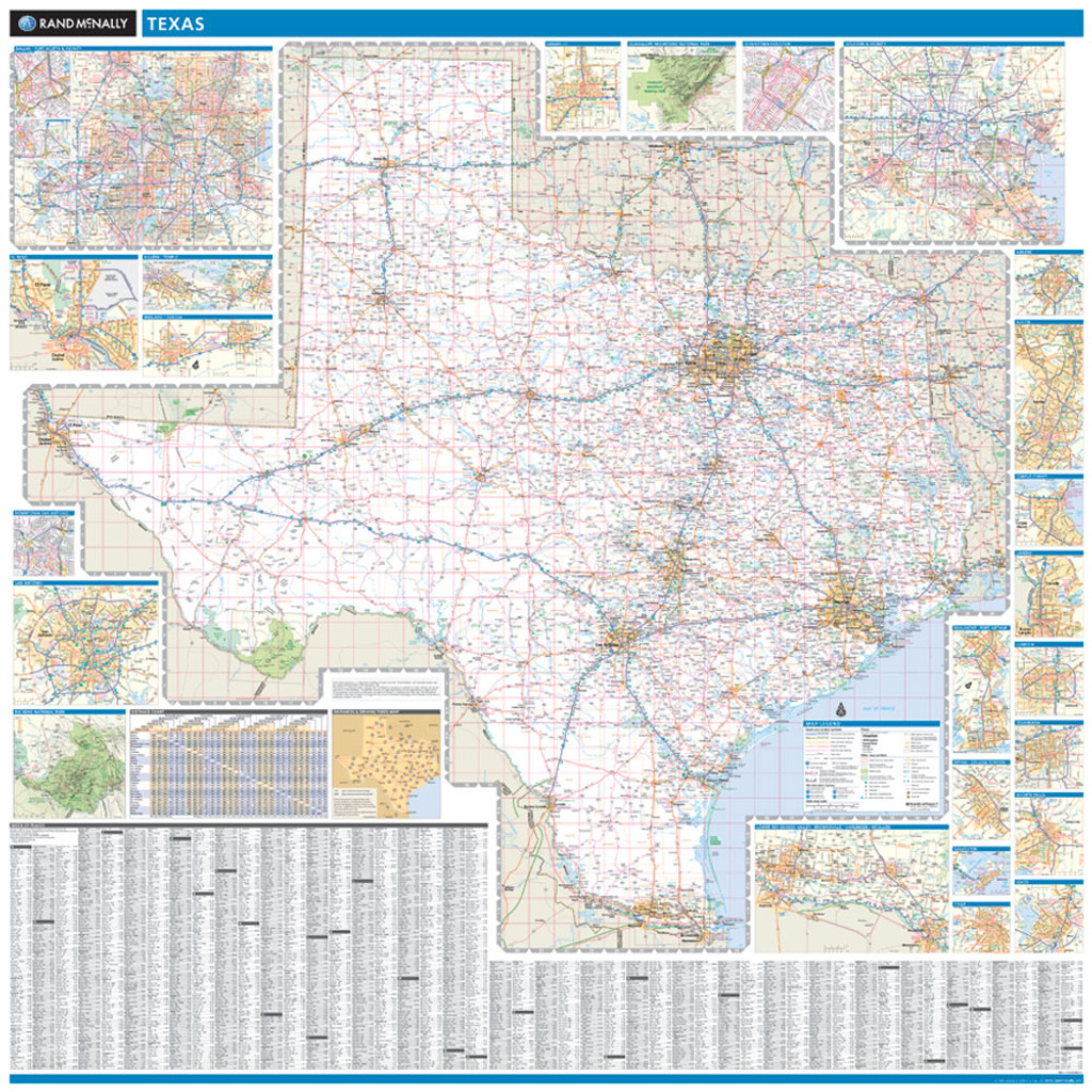Rand McNally Texas State Wall Map