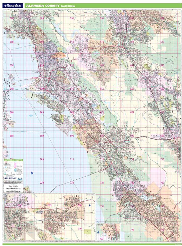 Bros Alameda County Wall Map