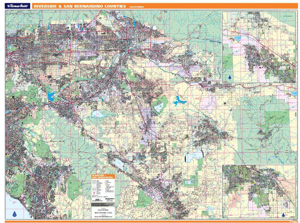 ProSeries Wall Map: Riverside & San Bernardino Counties