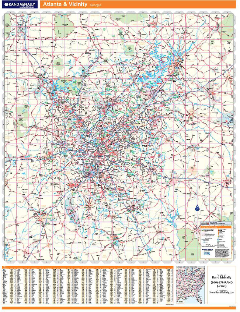 Rand McNally Atlanta Regional Wall Map