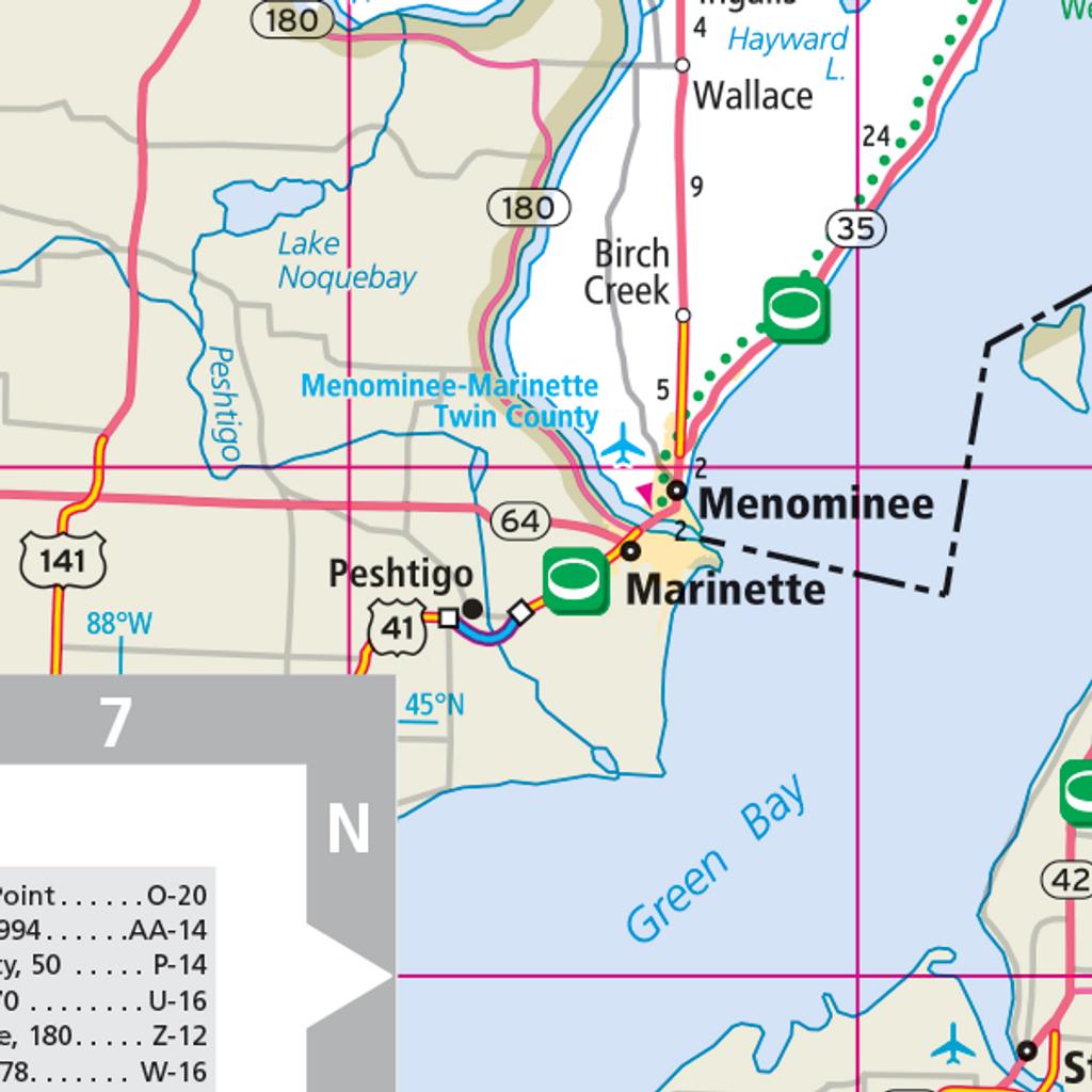 Rand McNally Michigan State Wall Map