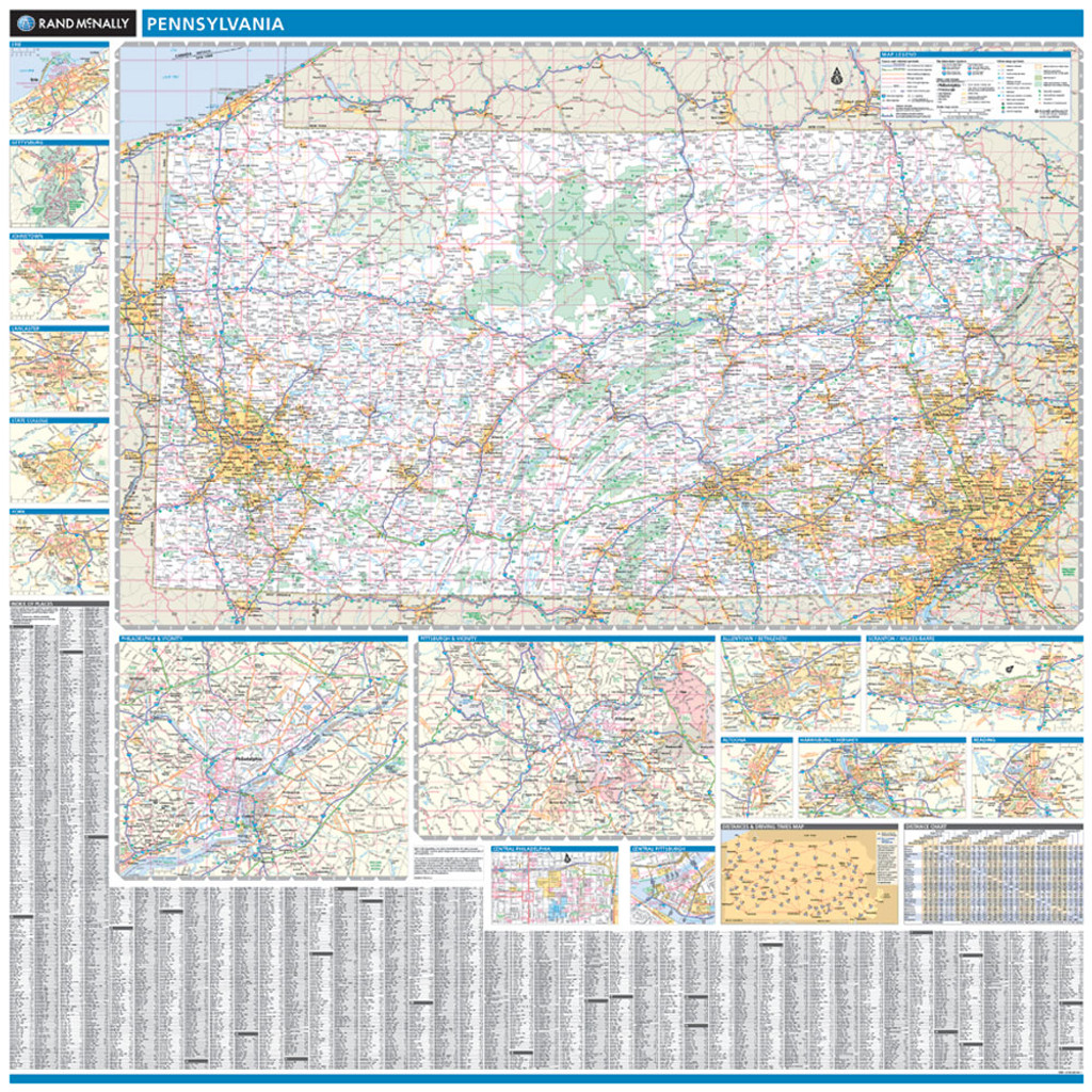 ProSeries Wall Map: Pennsylvania State
