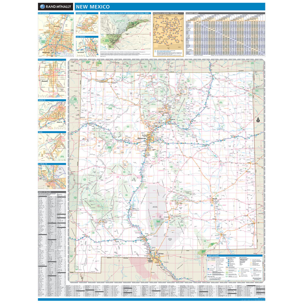 Rand McNally New Mexico State Wall Map