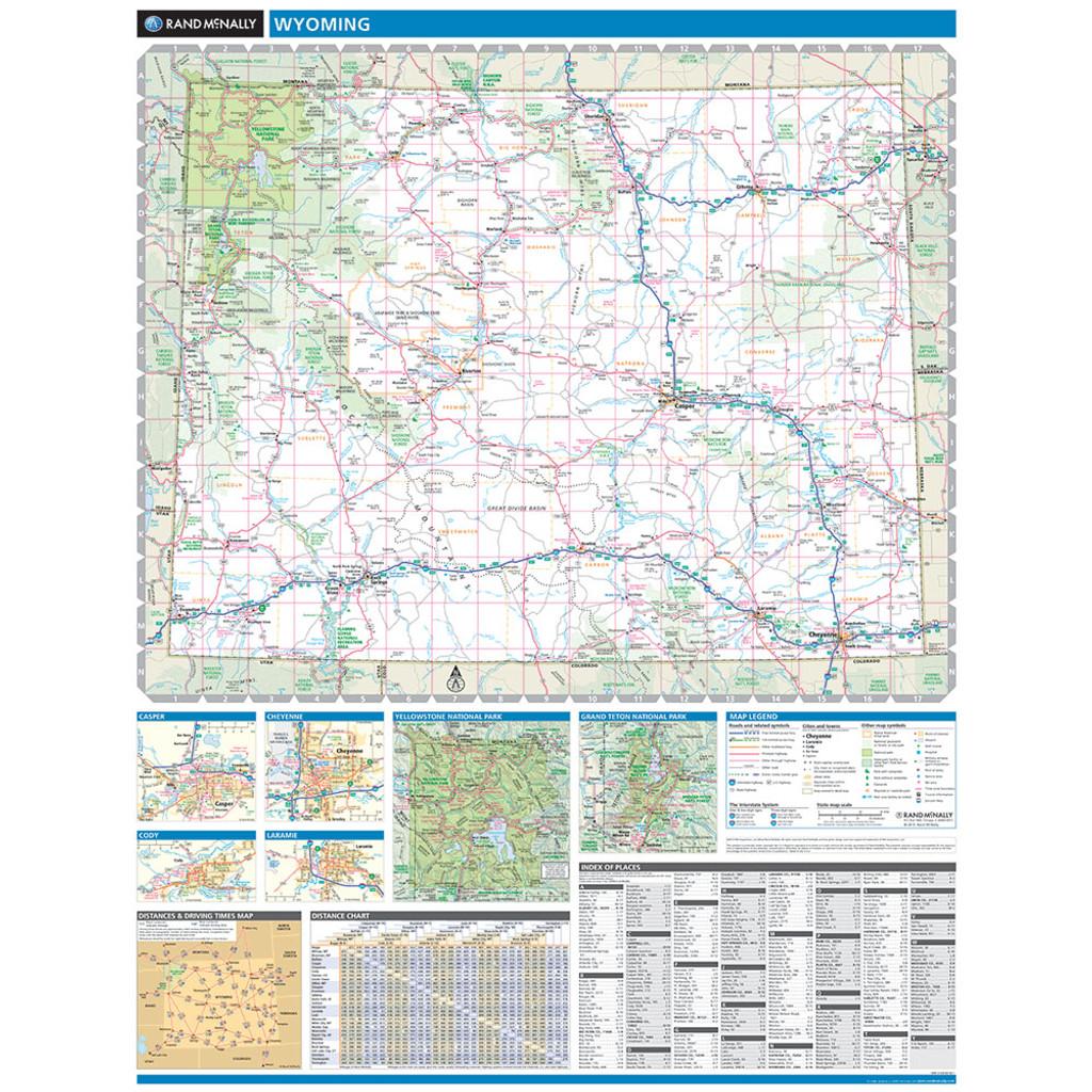 Rand McNally Wyoming State Wall Map