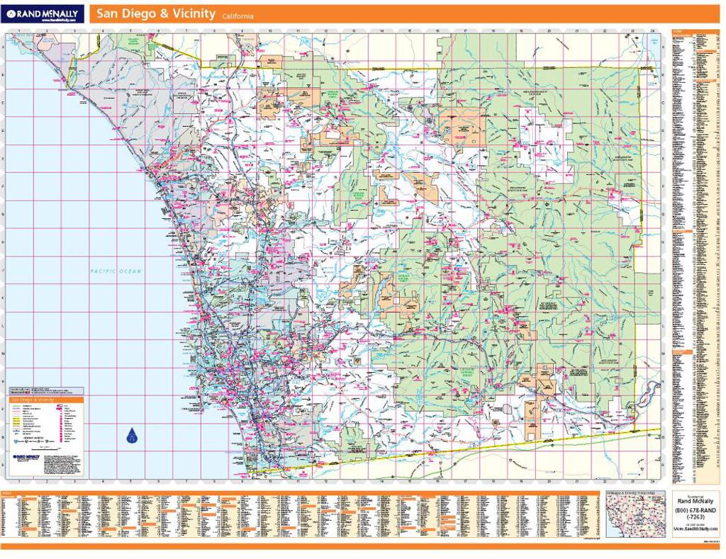 Rand McNally San Diego Regional Wall Map