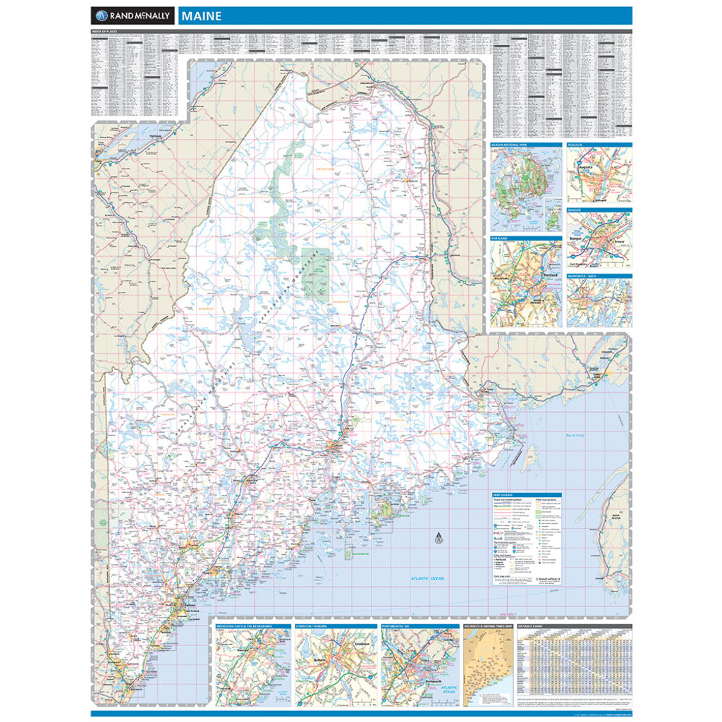 ProSeries Wall Map: Maine State