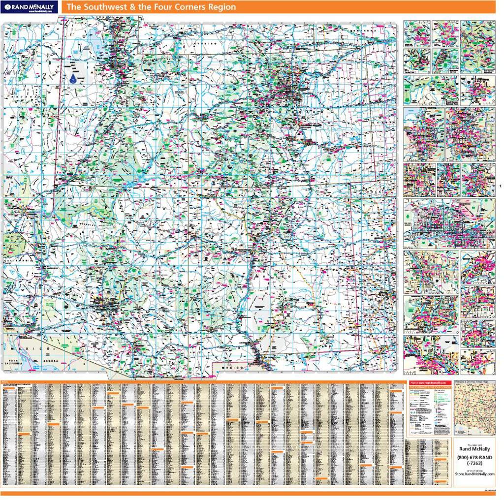 Rand McNally ProSeries Regional Wall Map: Four Corners Region & the ...