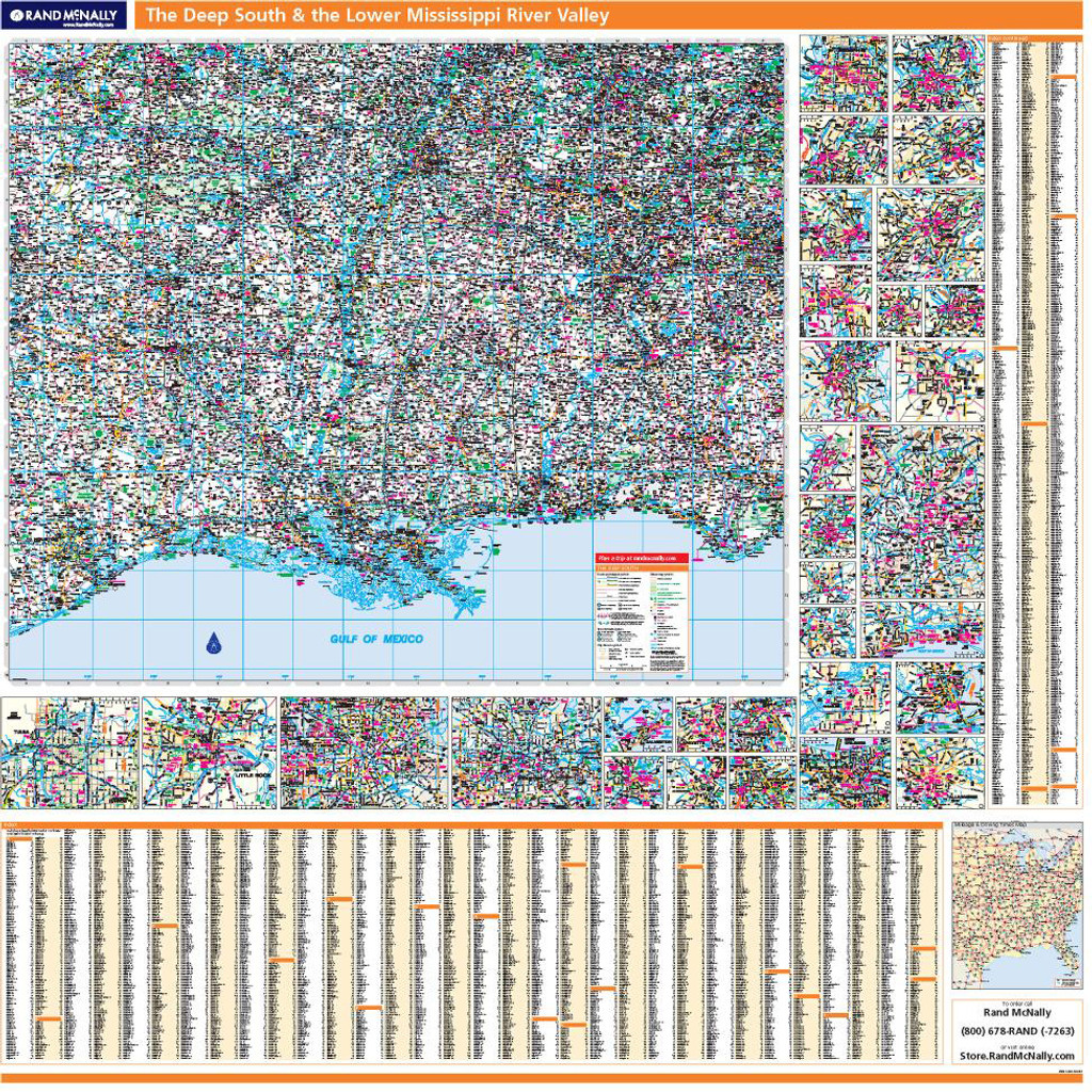 ProSeries Wall Map: Deep South & the Lower Mississippi River Valley