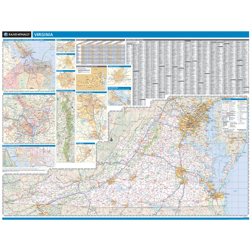 ProSeries Wall Map: Virginia State