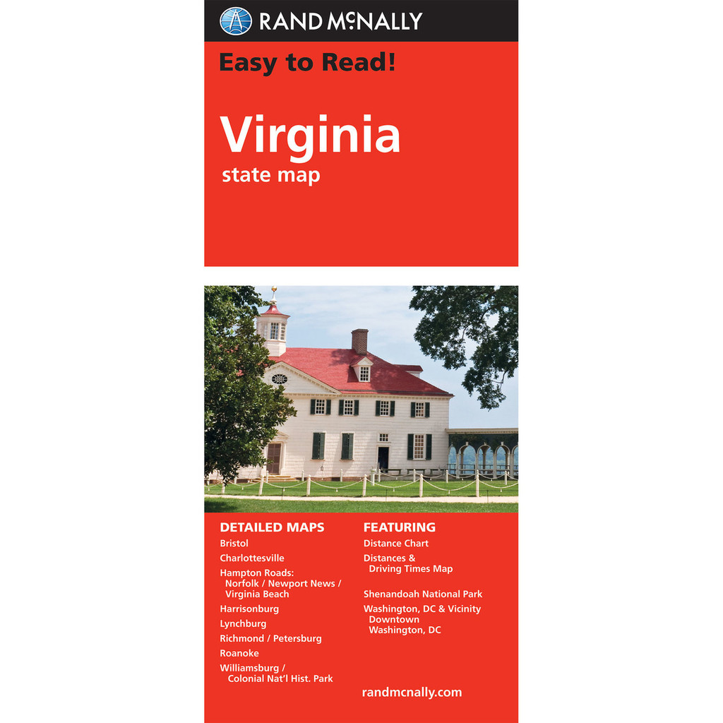 Easy To Read: Virginia State Map