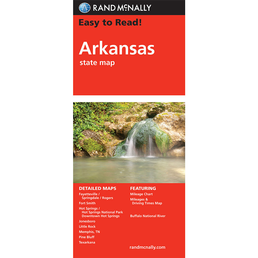 Easy To Read: Arkansas State Map