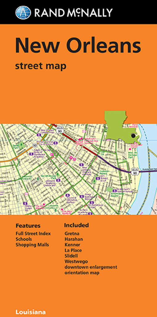 Folding Map: New Orleans Street Map