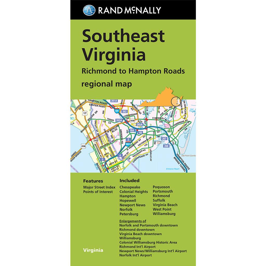 Southeast Virginia Richmond to Hampton Roads regional map