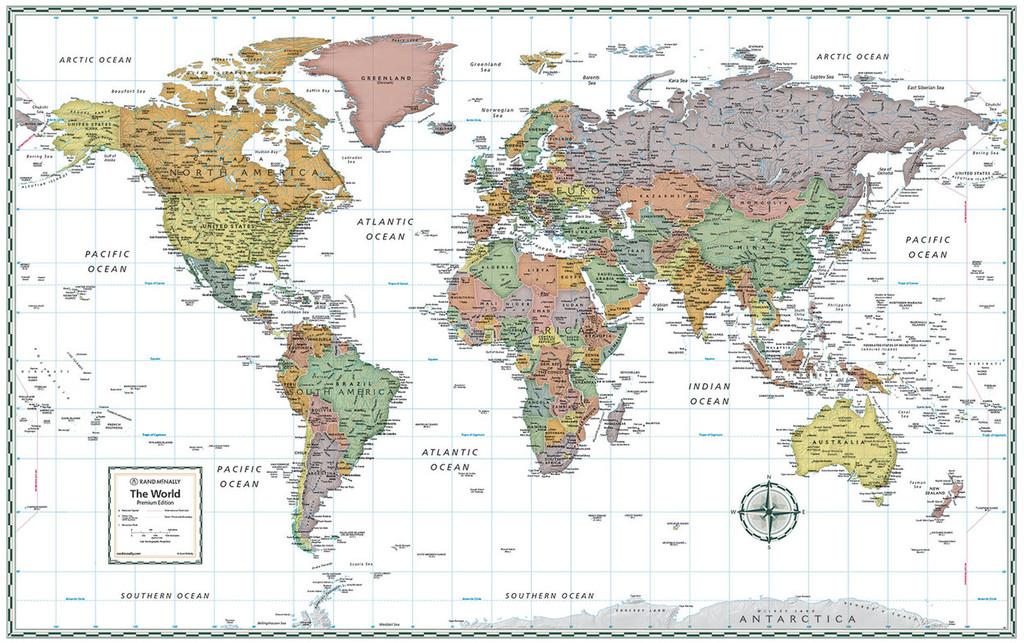 Premium World Wall Map