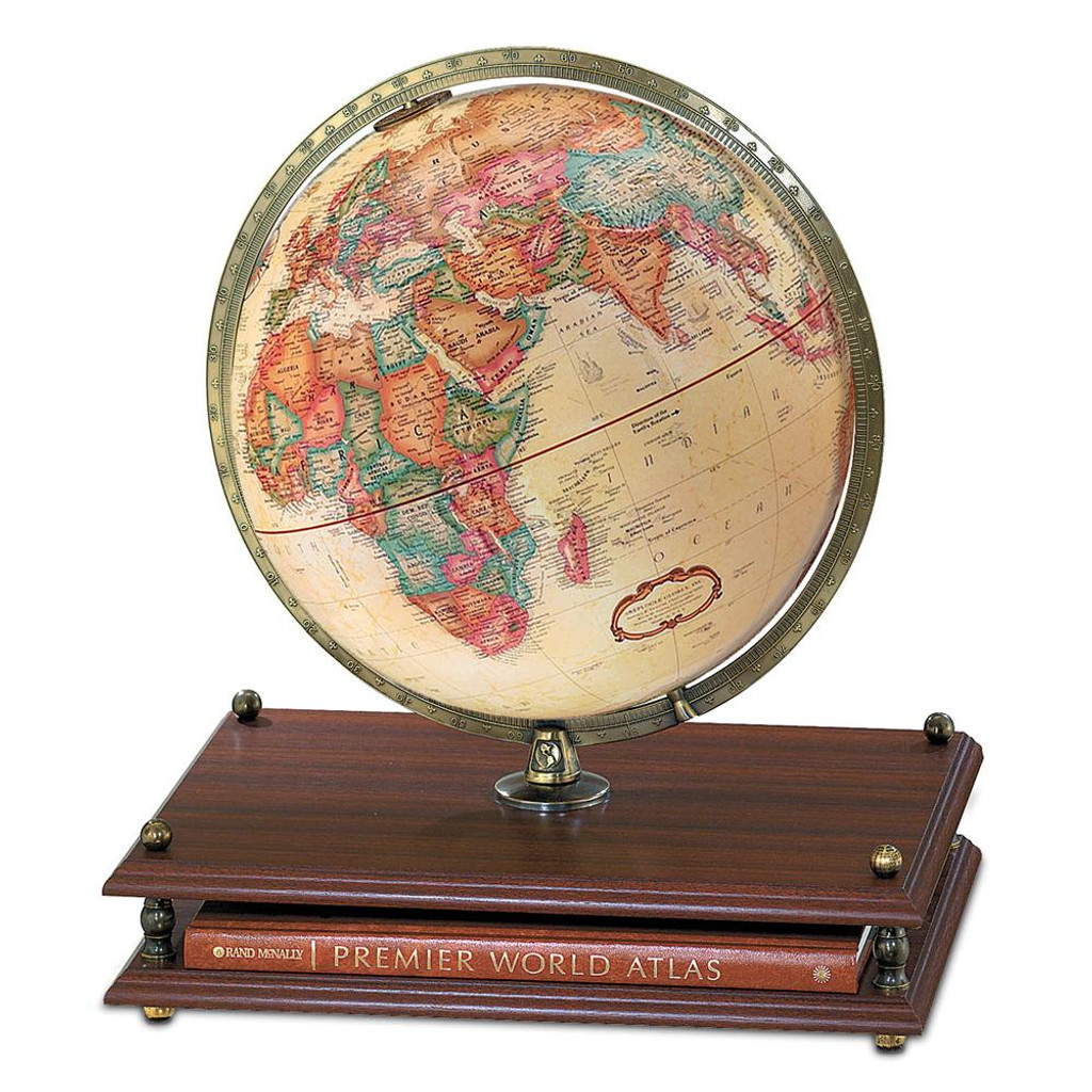Premier 12 inch globe with rand mcnally premier world atlas gumiabroncs Image collections