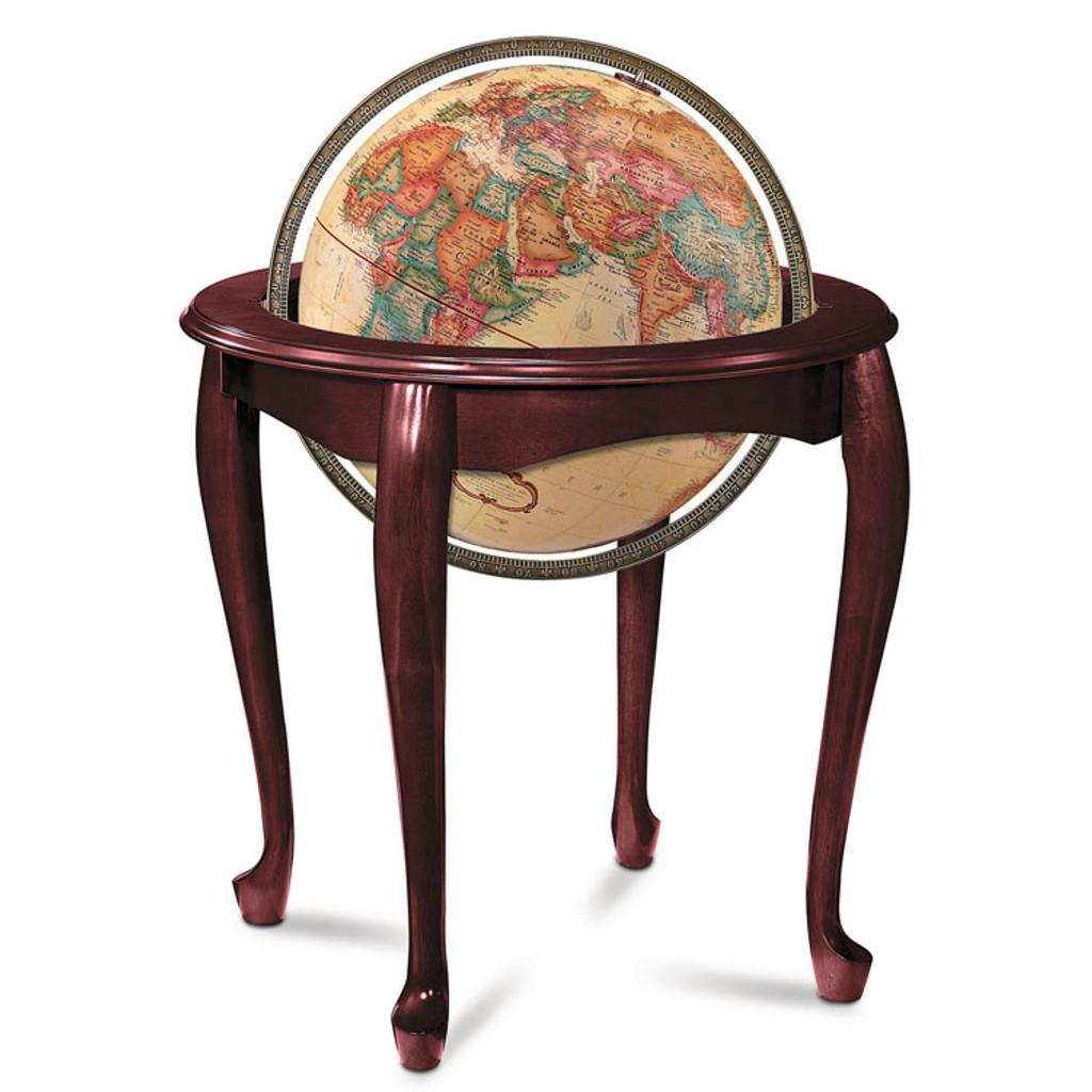 """Queen Anne 16"""" Floor Globe"""