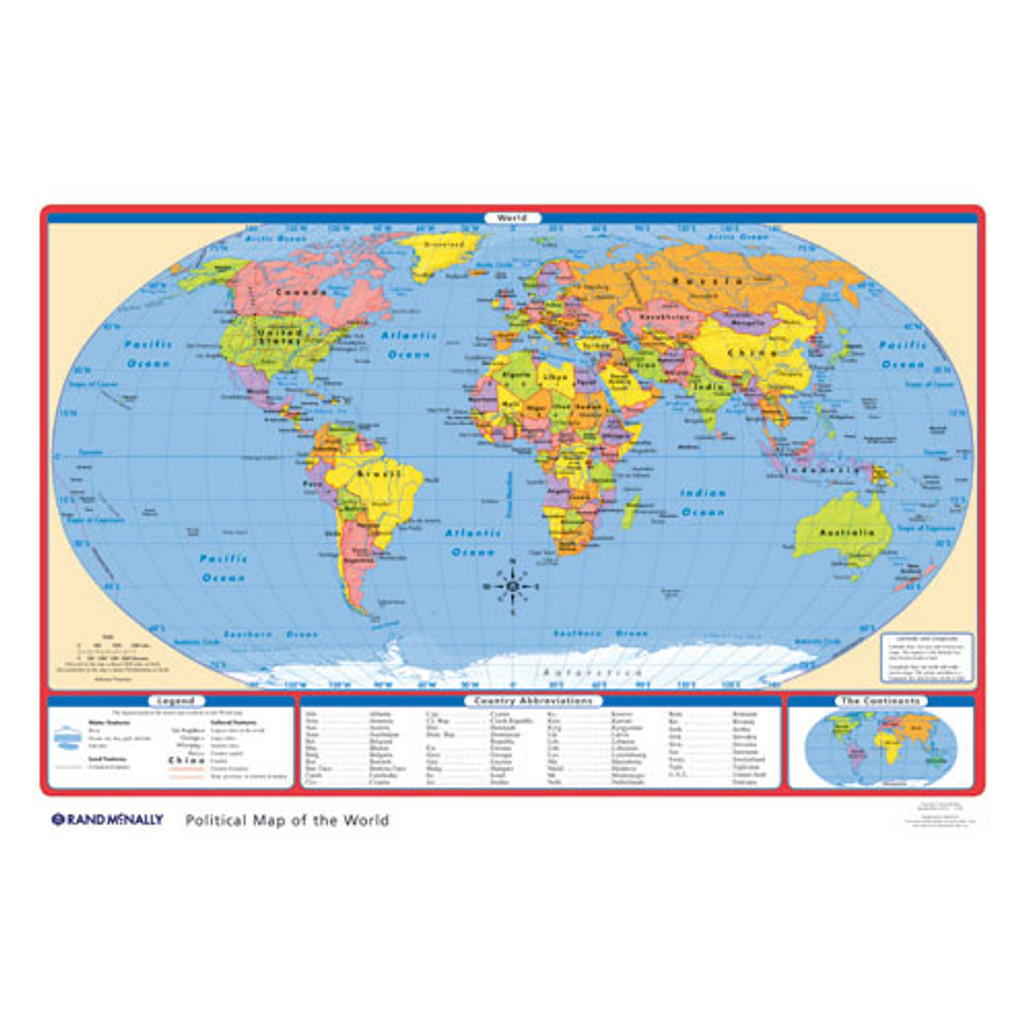 Political U.S./World Desk Map