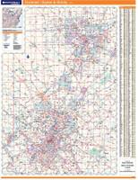 ProSeries Wall Map: Cincinnati-Dayton Regional