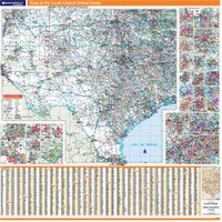 ProSeries Wall Map: Texas & the South Central United States