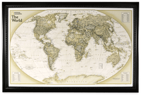 Lightravels World Executive Explorer Map (Antique Ocean)