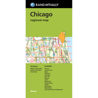 Folded Map: Chicago Regional Map
